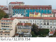 Aerial view from Castelo de Sao Jorge viewing point in Lisbon city, Portugal. Стоковое фото, фотограф Konrad Zelazowski / easy Fotostock / Фотобанк Лори