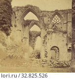 Bolton Abbey, Transept Arches., M. Horner (British, active Settle, England 1860s), 1860s, Albumen silver print (2019 год). Редакционное фото, фотограф ARTOKOLORO QUINT LOX LIMITED / age Fotostock / Фотобанк Лори