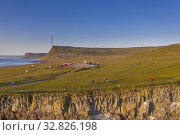 Latrabjarg cliffs, Westfjords, Iceland. Стоковое фото, фотограф Ragnar Th. Sigurdsson / age Fotostock / Фотобанк Лори