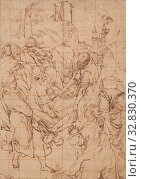 Купить «The Entombment of Christ, 1579/93, Federico Barocci (Italian, c. 1535-1612), or follower, Italy, Pen and brown ink, with touches of graphite and a later...», фото № 32830370, снято 17 сентября 2019 г. (c) age Fotostock / Фотобанк Лори