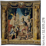 Orestes' revenge on Aegisthus, The history of Iphgenia and Orestes (series title), Tapestry with Orestes for Aegisthos, who will be killed by Orestes in... Редакционное фото, фотограф ARTOKOLORO QUINT LOX LIMITED / age Fotostock / Фотобанк Лори