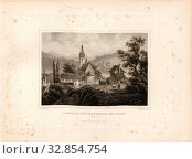 Schönenwerth Monastery near Aarau, Schönenwerd Abbey in the Canton of Solothurn, signed: L. Rohbock (del.), Br. Hablitschek (sculp.), Pl., 11, p. 27, Rohbock... Редакционное фото, фотограф ARTOKOLORO QUINT LOX LIMITED / age Fotostock / Фотобанк Лори