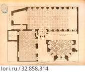 Ground Plan of Crosby Hall, London, Floor plan of the historic Crosby Hall building in London, signed: J. Palmer Del, J. Roffe, sc, Published by Longman... Редакционное фото, фотограф ARTOKOLORO QUINT LOX LIMITED / age Fotostock / Фотобанк Лори