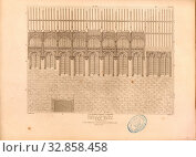 Elevation, Elevation of the historic Crosby Hall in London, signed: J. Palmer Del, J. Roffe, sc, Published by Longman & Co, Fig. 69, Pl. III, after p.... Редакционное фото, фотограф ARTOKOLORO QUINT LOX LIMITED / age Fotostock / Фотобанк Лори