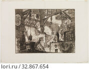Купить «Giovanni Battista Piranesi, Italian, 1720-1778, The Well, 1761, etching and engraving printed in black ink on laid paper, Plate: 16 × 21 5/8 inches (40.6 × 54.9 cm)», фото № 32867654, снято 30 марта 2020 г. (c) age Fotostock / Фотобанк Лори