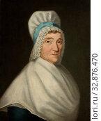 Louis Chretien de Heer, Canadian, 1755-1808, Madame Gabriel Cotte, ca. 1790, oil on canvas, Unframed: 25 1/8 × 19 3/4 inches (63.8 × 50.2 cm) Редакционное фото, фотограф ARTOKOLORO QUINT LOX LIMITED / age Fotostock / Фотобанк Лори