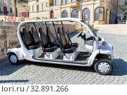 Купить «Typical electric car to take a trip in Baku. Azerbaijan.», фото № 32891266, снято 27 сентября 2019 г. (c) Евгений Ткачёв / Фотобанк Лори