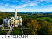Купить «Hluboka nad Vltavou castle, Czech Republic», фото № 32905986, снято 11 октября 2019 г. (c) Яков Филимонов / Фотобанк Лори
