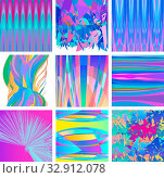 Vector Illustration Set of Abstract Colorful Modern Backgrounds Design. Стоковое фото, фотограф Zoonar.com/Igor Zakowski / easy Fotostock / Фотобанк Лори