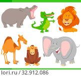 Cartoon Illustration of Funny Wild Animal Characters Collection. Стоковое фото, фотограф Zoonar.com/Igor Zakowski / easy Fotostock / Фотобанк Лори