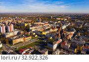 Купить «Aerial view of Ostrava, Czech Republic», фото № 32922326, снято 17 октября 2019 г. (c) Яков Филимонов / Фотобанк Лори
