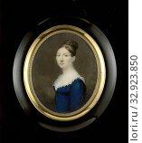 Suzanna de Roth (1789-1822), wife of Jonkheer Isaäc Pierre Graafland (1789-1825), counselor in the Supreme Court of Suriname, Portrait of Suzanna de Roth... Редакционное фото, фотограф ARTOKOLORO QUINT LOX LIMITED / age Fotostock / Фотобанк Лори