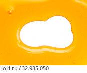 Купить «Honey background or abstract pattern, isolated on white», фото № 32935050, снято 15 января 2019 г. (c) Ольга Сергеева / Фотобанк Лори