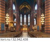 Купить «Интерьер церкви св. Иоанна в Стокгольме, Швеция», фото № 32942438, снято 24 мая 2019 г. (c) Михаил Марковский / Фотобанк Лори