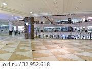 Купить «Doha, Qatar - Nov 18. 2019. Interior of Doha City Center - Shopping Center.», фото № 32952618, снято 18 ноября 2019 г. (c) Володина Ольга / Фотобанк Лори
