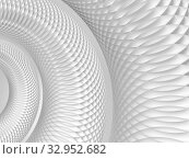 Купить «Abstract white background with round spiral structure made of circles, 3d», иллюстрация № 32952682 (c) EugeneSergeev / Фотобанк Лори