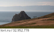 Lake baikal. Olkhon Island, Hujir Village, Shamanka Rock. Timelaps (2020 год). Редакционное видео, видеограф Владимир Крупенькин / Фотобанк Лори