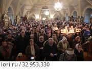 Купить «Праздник Крещение в Новодевичьем монастыре Москвы», эксклюзивное фото № 32953330, снято 19 января 2020 г. (c) Дмитрий Неумоин / Фотобанк Лори