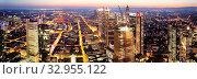 Купить «Ausblick ueber die Stadt vom Maintower in der Daemmerung, Frankfurt am Main, Hessen, Deutschland, Europa», фото № 32955122, снято 16 февраля 2020 г. (c) age Fotostock / Фотобанк Лори