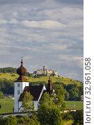 Купить «Church in Zehra and Spis castle, Slovakia.», фото № 32961058, снято 6 сентября 2019 г. (c) easy Fotostock / Фотобанк Лори