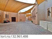 Купить «Doha, Qatar - Nov 20. 2019. Street in Katara Cultural Village», фото № 32961498, снято 20 ноября 2019 г. (c) Володина Ольга / Фотобанк Лори