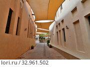 Купить «Doha, Qatar - Nov 20. 2019. Street in Katara Cultural Village», фото № 32961502, снято 20 ноября 2019 г. (c) Володина Ольга / Фотобанк Лори