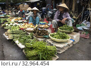 In the market of Hoian (Vietnam) we can find all type of vegetables, meats and fish.HOIAN-VIETNAM. (2017 год). Редакционное фото, фотограф Joaquín Gómez / age Fotostock / Фотобанк Лори