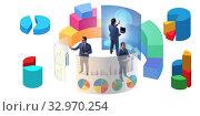 Купить «Trader working in technical visualization environment», фото № 32970254, снято 5 августа 2020 г. (c) Elnur / Фотобанк Лори