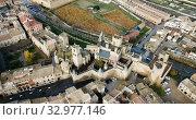 Towers of castle Palacio Real de Olite. Spain (2018 год). Стоковое видео, видеограф Яков Филимонов / Фотобанк Лори