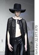 Купить «Fashion show by Morfosis, model on catwalk at AltaRoma 2020, Rome, ITALY-24-01-2020.», фото № 32977870, снято 24 января 2020 г. (c) age Fotostock / Фотобанк Лори