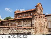 Церковь Св. Стефана (XI век), Несебыр, Болгария (2019 год). Стоковое фото, фотограф Юлия Бабкина / Фотобанк Лори