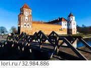 Castle Mir at daytime. Republic of Belarus. Стоковое фото, фотограф Яков Филимонов / Фотобанк Лори