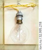 Купить «Лампочка накаливания выпуска 1929 года», фото № 32995218, снято 1 августа 2019 г. (c) Вячеслав Палес / Фотобанк Лори