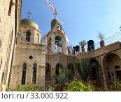 Купить «Внутренний двор православного Монастыря Герасима Иорданского», фото № 33000922, снято 11 января 2020 г. (c) Irina Opachevsky / Фотобанк Лори