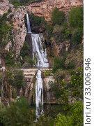 Купить «Sant Miquel del Fai with water cascades», фото № 33006946, снято 5 мая 2018 г. (c) Яков Филимонов / Фотобанк Лори