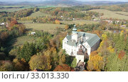 Купить «View of medieval Lemberk Castle. Czech Republic», видеоролик № 33013330, снято 19 октября 2019 г. (c) Яков Филимонов / Фотобанк Лори