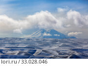 Купить «Beautiful view of Mount Elbrus to the Caucasus in Russia», фото № 33028046, снято 1 февраля 2020 г. (c) Яна Королёва / Фотобанк Лори