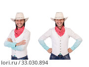Cowboy isolated on the white background. Стоковое фото, фотограф Elnur / Фотобанк Лори