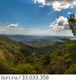 Купить «View from Olymbos, the highest peak of the island of Cyprus. Troodos mountains», фото № 33033358, снято 8 октября 2019 г. (c) Володина Ольга / Фотобанк Лори