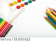 Set of tools for painting. Стоковое фото, фотограф Юлия Бабкина / Фотобанк Лори