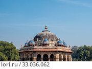 Isa khan's tomb in humayun's tomb complex new delhi, india. Стоковое фото, фотограф Zoonar.com/Insung Choi / easy Fotostock / Фотобанк Лори