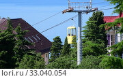 Купить «Koreiz, Crimea - June 2.2019. The Cabins of cableway in Koreiz, Crimea», видеоролик № 33040054, снято 6 февраля 2020 г. (c) Володина Ольга / Фотобанк Лори
