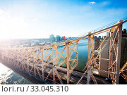 Ed Koch Queensboro bridge over Queens, East river. Стоковое фото, фотограф Сергей Новиков / Фотобанк Лори