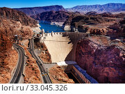 Colorado river Hoover Dam hydro power station (2015 год). Стоковое фото, фотограф Сергей Новиков / Фотобанк Лори
