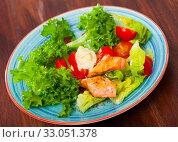 Купить «Grilled trout with vegetables», фото № 33051378, снято 20 февраля 2020 г. (c) Яков Филимонов / Фотобанк Лори