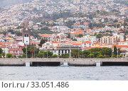 Купить «Funchal landscape of Funchal with the Cathedral», фото № 33051486, снято 24 августа 2017 г. (c) EugeneSergeev / Фотобанк Лори