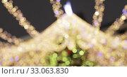 Bokeh of New Year's illumination. Стоковое видео, видеограф Потийко Сергей / Фотобанк Лори