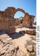 Купить «The remains of Saranta Kolones castle. Paphos Archaeological Park. Cyprus», фото № 33067266, снято 8 июня 2018 г. (c) Serg Zastavkin / Фотобанк Лори
