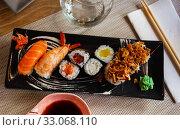 Купить «Various of sushi», фото № 33068110, снято 20 февраля 2020 г. (c) Яков Филимонов / Фотобанк Лори
