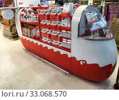 Купить «Kinder Chocolates at Kuala Lumpur airport», фото № 33068570, снято 14 сентября 2017 г. (c) Александр Подшивалов / Фотобанк Лори